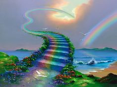 Over the Rainbow * Artist Jim Warren Fantasy Myth Mythical Mystical Legend Elf Elves Dragon Dragons Fairy Fae Wings Fairies Mermaids Mermaid Siren Dragon Dragons Siren Sword Sorcery Magic Witch Wizard Whimsy Valkyrie Humor Funny Cute Hidden Surreal