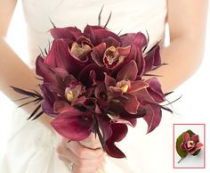 red calla and asiatic lily bouquet | Wedding Bouquets and Boutonnieres: Balanced and Bold