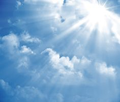 Picture of A photography of a blue sky with sun rays stock photo, images and stock photography. Light Rays, Sun Rays, What Is Cloud Computing, Small Business Accounting, Illustrations, Music Files, Images, Clouds, Sky