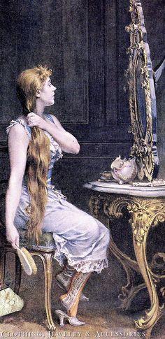 'Golden Hair' by Frederik Hendrik Kaemmerer, 1839-1902