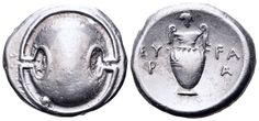 AR Stater. Greek, Boeotia, Thebes. Circa 395-338 BC. 22mm, 12,16g. BCD Boiotia 567. Good VF. Price realized (2.7.2016): 238 EUR.