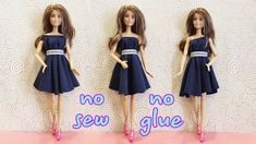 I love dolls ❤ I like to make clothes and miniatures for dolls. In my videos, I share many ways to make simple clothes for dolls: dresses, pants. Diy Doll Clothes No Sew, Sewing Barbie Clothes, Sewing Dolls, Doll Clothes Patterns, Clothing Patterns, Barbie Doll Set, Barbie Dress, Diy Dress, Dress Outfits