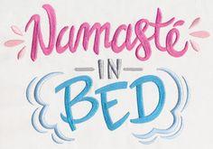 Namaste in Bed design (UT11519) from UrbanThreads.com