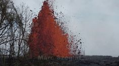 Eruption of Kilauea's fissure 22 in Leilani Estates close to Pahoa. Volcanoes, Painting, Outdoor, Outdoors, Painting Art, Volcano, Paintings, Outdoor Games, Painted Canvas