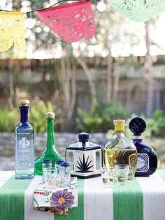 "tequila table (a.k.a. ""mommy's juice stand"")"