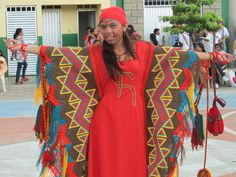 Typical dress of Wayuu culture. COLOMBIA