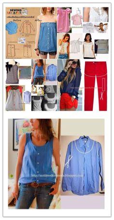 DIY                                                                   Shirt to shirt dress how-to. SO EASY!