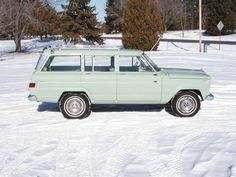 This is the 87th Wagoneer ever made! A 1963 in a cool shade of green. Still has the original 230 OHC Tornado 6.