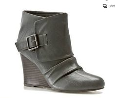Love this Grey Wedge Bootie