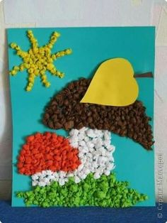 Hríby Kids Crafts, Preschool Crafts, Diy And Crafts, Arts And Crafts, Autumn Activities For Kids, Creative Activities, Toddler Activities, School Art Projects, Autumn Crafts