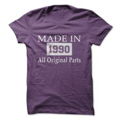 MADE IN 1990 - ALL ORIGIN... #Aged #Tshirt #year