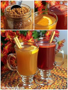 hot spiced drink mix (a big no to the brown sugar option but a big YES to most everything else!)