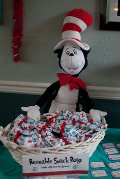 """Dr Seuss Thing 1 Thing 2 / Birthday """"Thing 1 Thing 2 Twins First Birthday Party"""" 
