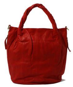 BAG(バッグ)のPELLETTERIA VENETA ネジリハンドルトートバッグ(ショルダーバッグ) レッド