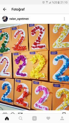 25 Manualities For Teaching Numerals - Student On - Trend Lingerie Party 2019 Numerals - Diy Crafts Motor Skills Activities, Preschool Learning Activities, Preschool Classroom, Toddler Activities, Preschool Activities, Kids Learning, Numbers Preschool, Learning Numbers, Nursery Activities