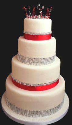 Blingy Wedding Cake from www.cakesjust4u.jimdo.com