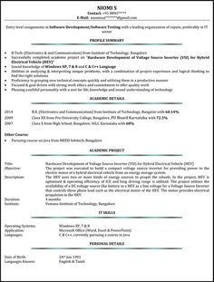 Ats Resume Format Inspiration Resume Format For Ats  Resume Format Resume Format Examples And .