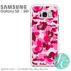 Bape Pink Camo Phone Case for Samsung Galaxy S8 & S8 Plus