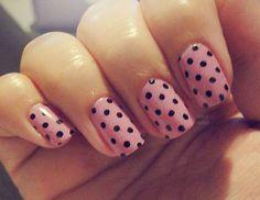 Pink nails with black polkadots nails nail pink nails polkadots pretty nails nail art nail ideas nail designs Sexy Nails, Love Nails, Pink Nails, How To Do Nails, Pretty Nails, Black Nails, Dot Nail Art, Polka Dot Nails, Polka Dots