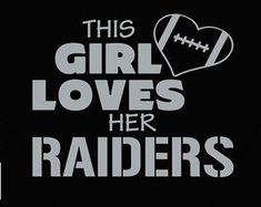Raider Nation, Raiders Stuff, Raiders Girl, Okland Raiders, Football Fan Shirts, Nfl T Shirts, Baby Girl Wallpaper, Oakland Raiders Football, Steeler Nation