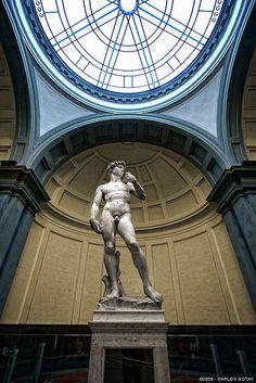 de David van Michelangelo in de Accademia Gallery in Firenze