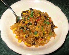 Mexican Ground Turkey Quinoa Skillet - quick and yummy.  My go-to for fast dinners.