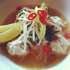 Vietnamese chicken meatball and noodle soup #Thermomix