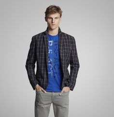 2 Button Combo Blazer - Kenneth Cole