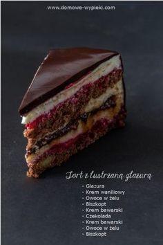 Matcha, cocoa and white chocolate marbled - HQ Recipes Polish Desserts, Polish Recipes, Cookie Desserts, Sweet Recipes, Cake Recipes, Dessert Recipes, Cupcake Cakes, Cupcakes, Torte Cake