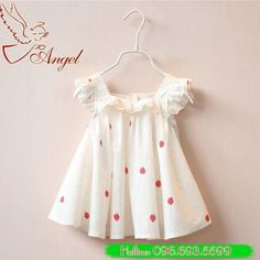 Cheap dress bridemaid, Buy Quality dress lavender directly from China dresses prom dress Suppliers: new 2016 summer dress fly sleeve girls clothes polk dot girls party dress Strawberry print girls wedding dress for infant kids Wedding Dresses For Girls, Girls Party Dress, Little Girl Dresses, Girls Dresses, Summer Dresses, Toddler Dress, Baby Dress, Toddler Girl, Dress Girl