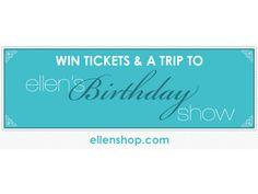 Win Tickets to Ellen's Birthday Show! | EllenTV.com