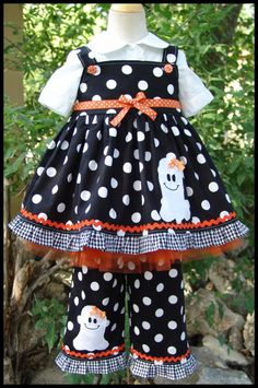 Super Cute Halloween Ghost Jumper Dress by LilBitofWhimsyCoutur, $48.00