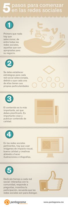5 pasos para comenzar en las redes sociales