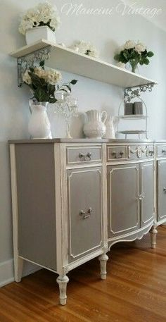 Or this one...love this buffet... #shabbychicdresserslivingroom