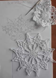New crochet christmas snowflakes pattern cross stitch ideas Mandala Au Crochet, Crochet Snowflake Pattern, Christmas Crochet Patterns, Crochet Christmas Ornaments, Crochet Stars, Crochet Motifs, Crochet Snowflakes, Holiday Crochet, Crochet Diagram