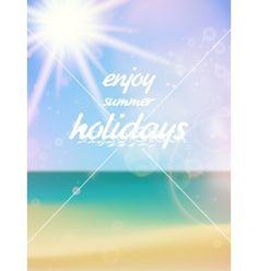 Beautiful seascape and sun vector by Glush2502 on VectorStock®