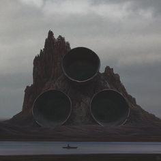 Motores nave: vista desde el cañón