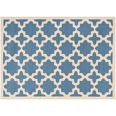 Safavieh Courtyard Fret Indoor Outdoor Rug, Blue