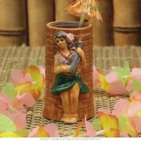 Hula Girl with Ukulele Tiki Mug