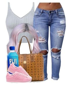 """""""✨"""" by trillest-queen ❤ liked on Polyvore featuring MCM and adidas Originals"""