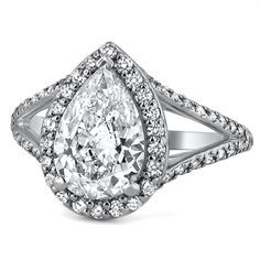 Petite Split Shank Halo Ring from Brilliant Earth