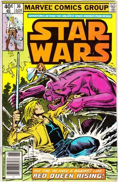 "Items similar to Marvel Star Wars Comic ""Red Queen Rising"" - 1980 Star Wars on Etsy Star Wars Comic Books, Star Wars Comics, Star Wars Fan Art, Star Trek, Marvel Girls, Deathstroke, Power Girl, Dc Comics, Comic Books For Sale"
