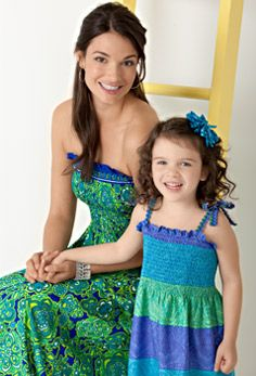Single Seam Sundress - just buy material at Joann Fabrics, comes pre-shirred and elasticized so you sew a single stitch to close it based on your size!  Different lengths and patterns available.