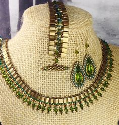 Spring Fling Cleopatra Necklace #Seed #Bead #Tutorials