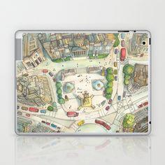 Trafalgar Square Laptop & iPad Skin by Abigail Daker - $25.00