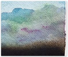 Jo Dalgety - watercolour and charcoal on paper. (detail)