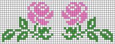 Alpha friendship bracelet pattern added by neopets. Wedding Cross Stitch Patterns, Easy Cross Stitch Patterns, Simple Cross Stitch, Cross Stitch Rose, Cross Stitch Flowers, Cross Stitch Designs, Cross Stitch Embroidery, Embroidery Patterns, Tapestry Crochet Patterns