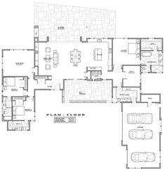 Modern Floor Plan - Main Floor Plan Plan #892-12