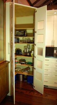 Corner walk-in pantry within the cabinetry - contemporary - kitchen - philadelphia - Kevin Martin