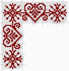 Xmas Cross Stitch, Cross Stitch Letters, Cross Stitch Heart, Beaded Cross Stitch, Cross Stitch Borders, Modern Cross Stitch Patterns, Cross Stitch Needles, Cross Stitch Designs, Cross Stitching